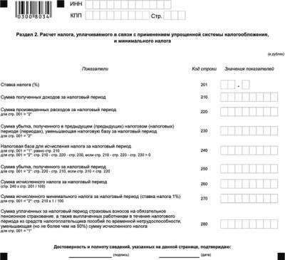Налоговый период (код для декларации) | ИП