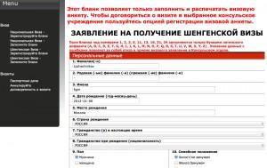 образец польской анкеты